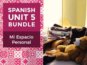 Spanish Unit 5 Bundle: Mi Espacio Personal - My Personal Space
