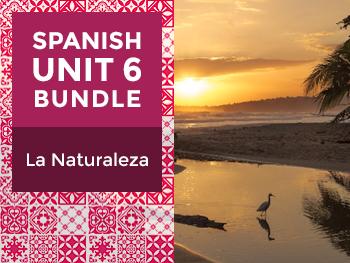 Spanish Unit 6 Bundle: La Naturaleza - Nature