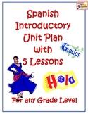 Spanish Unit Plan