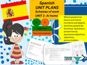 Spanish Unit Plans My House Mi Casa Unit 2 For Beginners Tpt