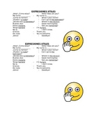 Spanish Useful Expressions for Student's Desks