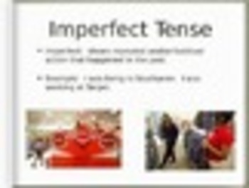 Spanish Uses of the Imperfect Tense Keynote Slideshow for Mac