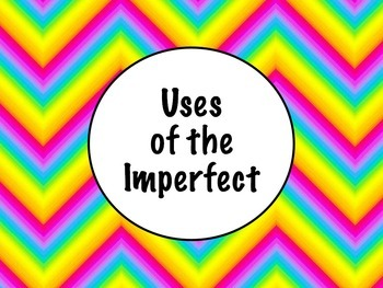 Spanish Uses of the Imperfect Tense PowerPoint Slideshow Presentation