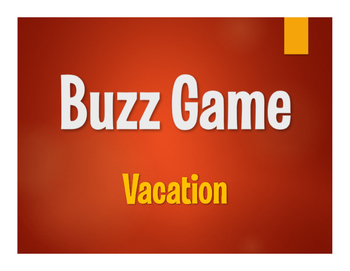 Spanish Vacation Buzz Game