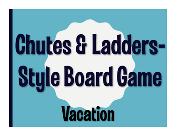 Spanish Vacation Chutes and Ladders-Style Game