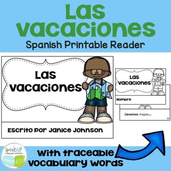 Spanish Vacation Reader {Las vacaciones} & Cut & Paste ~ Simplified