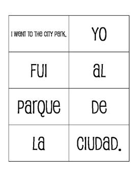 Spanish Vacation Sentence Mixer