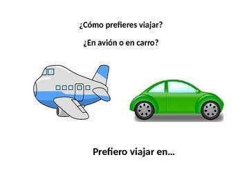 Spanish Vacation Vocabulary - Conversation Prompts