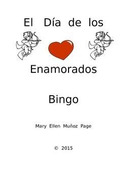 Spanish Valentine Bingo