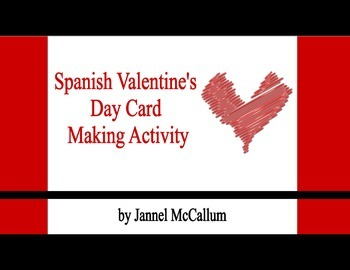 Spanish Valentine Card Making Reference Sheets