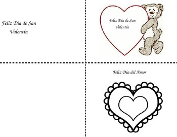 Spanish Valentine Cards and mini lesson