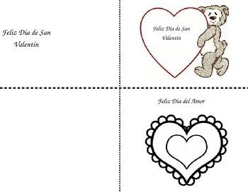 Spanish Valentine Cards and mini lesson