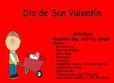 Spanish Valentine Day Activity Bundle Dia de San Valentin