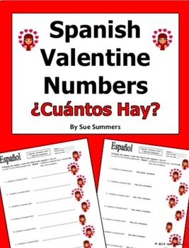 Spanish Valentine Numbers - ¿Cuántos Corazones Hay?