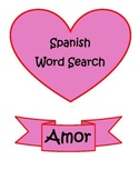 PRINT & DIGITAL Spanish Dia de Enamorados Valentine Word Search