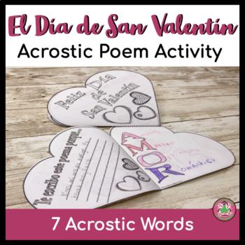 Spanish Valentineu0027s Day Acrostic Poem Activity Spanish Valentineu0027s Day  Acrostic Poem Activity