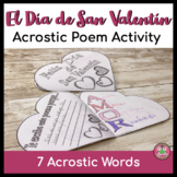 Spanish Valentine's Day Acrostic Poem Activity