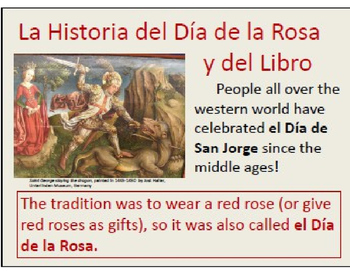 Spanish Valentine's Day Alternative Lesson: El Dia de la Rosa y del Libro