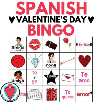 Spanish Valentine's Day Bingo