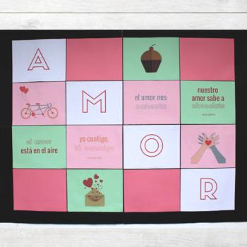 Spanish Valentine's Day Bulletin Board Decor