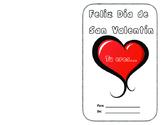 Spanish Valentine's Day Card   Tarjeta del Día de San Valentín