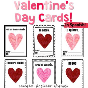 Spanish Valentine's Day Cards - El Día de San Valentín