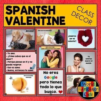 Spanish Valentine's Day Decorations, Posters, Signs, Día de San Valentín