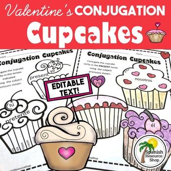 Spanish Valentine's Day Conjugation Cupcakes