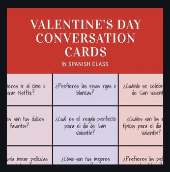 Spanish Valentine's Day Conversation Cards!