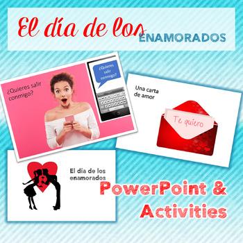 Spanish Valentine's Day El día de los enamorados PowerPoint and INB Activities