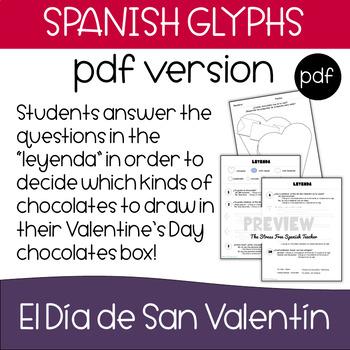 Spanish Valentine's Day GLYPH, Reading Comprehension