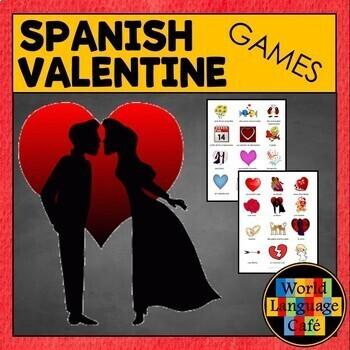 Spanish Valentine's Day Games:  Go Fish and Memory