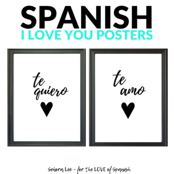 Spanish Valentines Day I Love You Poster | TpT