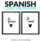 Spanish Valentine's Day Poster - I Love You, Te amo, Te quiero
