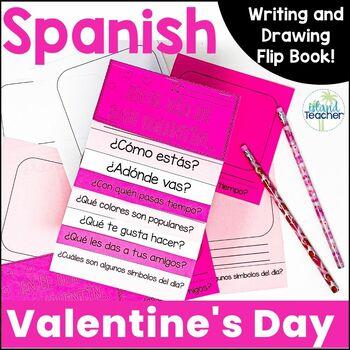 Spanish Valentines Day Interactive Flip Book