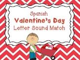 Spanish Valentine's Day Letter Sound Match
