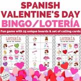 Spanish Valentine's Day Activity Bingo Lotería No Prep | D