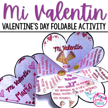 Spanish Valentine's Day:  Mi Valentin Foldable Activity