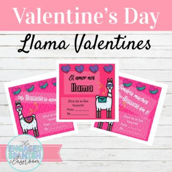 Spanish Llama Valentines El Día de San Valentín