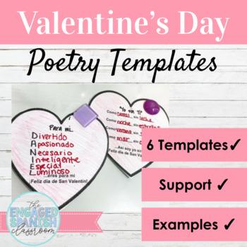 Spanish Valentine's Day Poetry Activities: Poesía para El Día de San Valentín