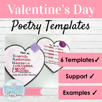 Spanish Valentine's Day Poetry Activities Día de San Valentín