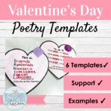 Spanish Valentine's Day Poetry Activities Día de San Valentín