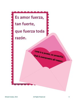 Spanish Valentine's Day Posters / February / Bulletin Board Elements