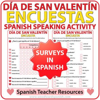 Spanish Valentine's Day Survey - Encuesta del Día de San Valentín