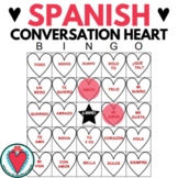 Spanish Valentine's Day Activity - Spanish Conversation Hearts Bingo