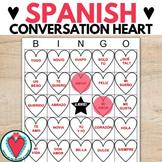 Spanish Valentine's Day Vocabulary Game - Spanish Conversation Hearts Bingo