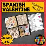 Spanish Valentine's Day Activities, San Valentín Fortune T