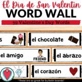 Spanish Valentine's Day Vocabulary - Word Wall - Bulletin Board