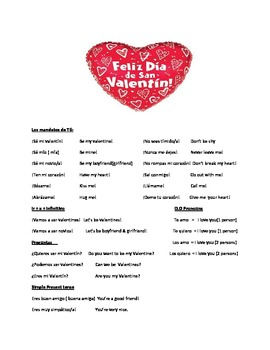 spanish valentine sayings by meg graham teachers pay teachers