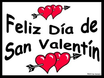 Spanish Valentine's Day 2 Free Classroom Signs